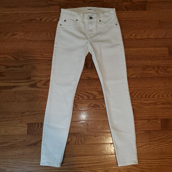 Hudson Jeans Denim - HUDSON Jeans 'Krista' Super Skinny Crop in White